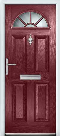 Claret composite door for Front door north tyneside
