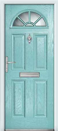 Coastal Blue Composite Door
