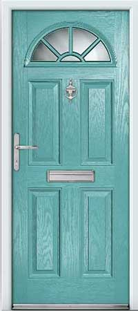 Pastal Blue Composite Door