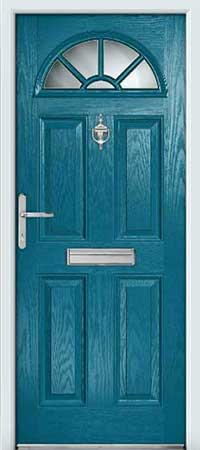 Teal Composite Door